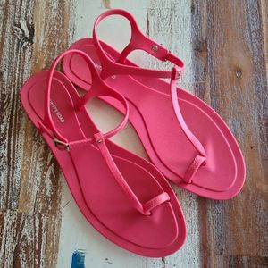 Country Road Red Strappy Sandals Sz 39